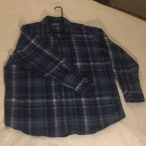 Pendleton blue flannel  size XL